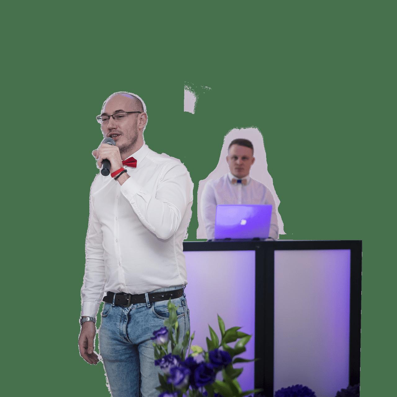 Ведущий и диджей Андрей Андреев на свадьбе