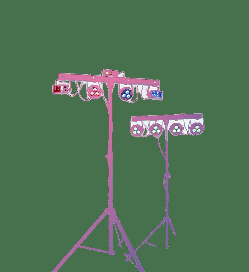 Комплект стандартного светового оборудования для вечеринки