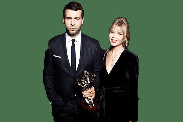 С Ургантом, Михеевой и другими звёздами на премии Ассоциации Продюсеров Кино и Телевидения 2019
